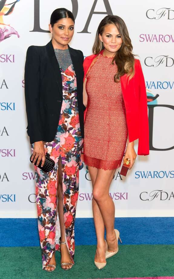 Designer Rachel Roy and model Chrissy Teigen  attend the 2014 CFDA fashion awards at Alice Tully Hall, Lincoln Center on June 2, 2014 in New York City. Photo: Gilbert Carrasquillo, FilmMagic