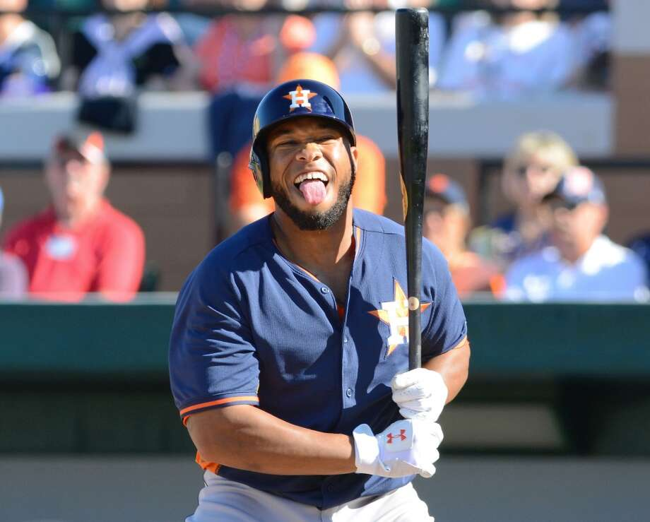 7. Singleton split his time after the suspension in 2013 between Corpus in Class AA and Oklahoma City in Class AAA. He hit only .220 at Oklahoma City in 74 games with six homers. Photo: Mark Cunningham, Getty Images