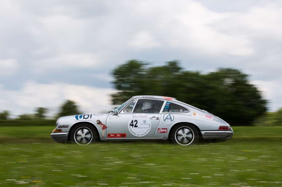 The 1968 Porsche 912 number 42 is seen at Circuit Maurice Tissandier during the 15th Rallye des Princesses on June 2nd, 2014 in La Chatre, France. Photo: Getty Images