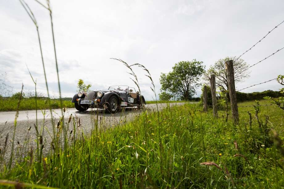 A Morgan during stage 4 of day 3 of the 15th Rallye des Princesses on June 2, 2014 in Gorges de la Sioule, France. Photo: Getty Images