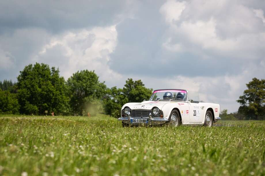 The 1964 Triumph TR4 number 20 is seen at Circuit Maurice Tissandier during the 15th Rallye des Princesses on June 2nd, 2014 in La Chatre, France. Photo: Getty Images