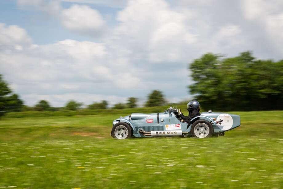 The 1961 Austin Lenham number 4 is seen at Circuit Maurice Tissandier during the 15th Rallye des Princesses on June 2nd, 2014 in La Chatre, France. Photo: Getty Images