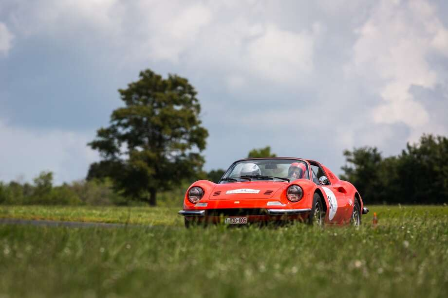 The 1972 Ferrari Dino number 54 is seen at Circuit Maurice Tissandier during the 15th Rallye des Princesses on June 2nd, 2014 in La Chatre, France. Photo: Getty Images