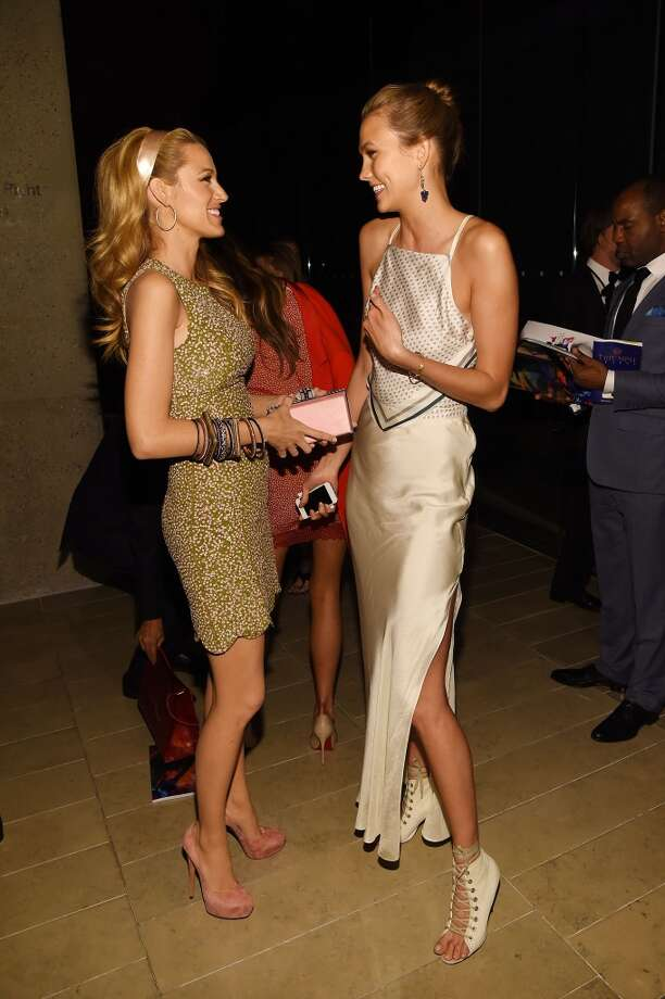 Blake Lively (L) and Karlie Kloss attend the 2014 CFDA fashion awards at Alice Tully Hall, Lincoln Center on June 2, 2014 in New York City. Photo: Larry Busacca, Getty Images