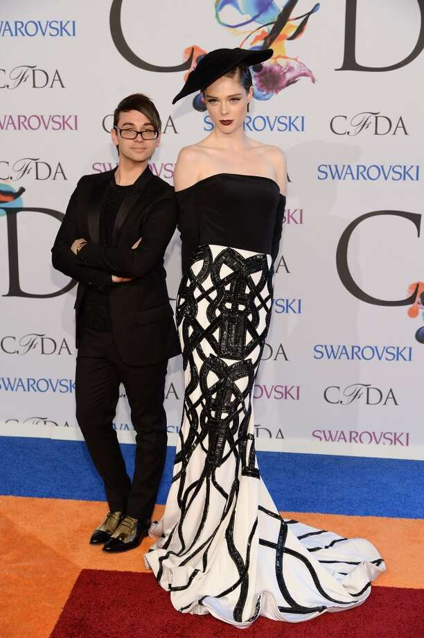 Designer Christian Siriano (L) and model Coco Rocha attend the 2014 CFDA fashion awards at Alice Tully Hall, Lincoln Center on June 2, 2014 in New York City. Photo: Dimitrios Kambouris, Getty Images