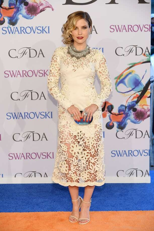 Actress Sophia Bush attends the 2014 CFDA fashion awards at Alice Tully Hall, Lincoln Center on June 2, 2014 in New York City. Photo: Dimitrios Kambouris, Getty Images