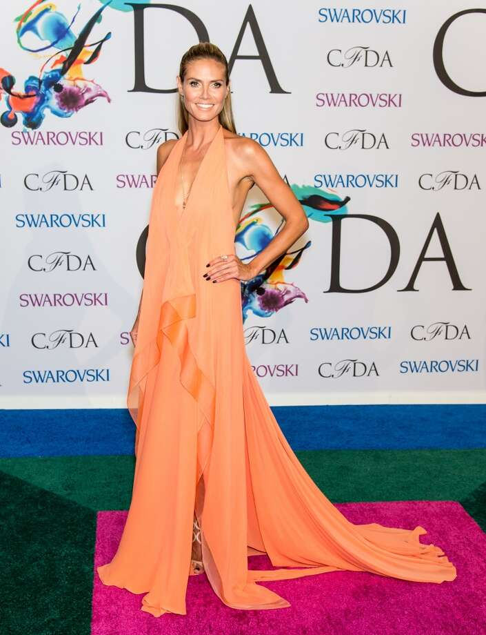 Model Heidi Klum attends the 2014 CFDA fashion awards at Alice Tully Hall, Lincoln Center on June 2, 2014 in New York City. Photo: Gilbert Carrasquillo, FilmMagic