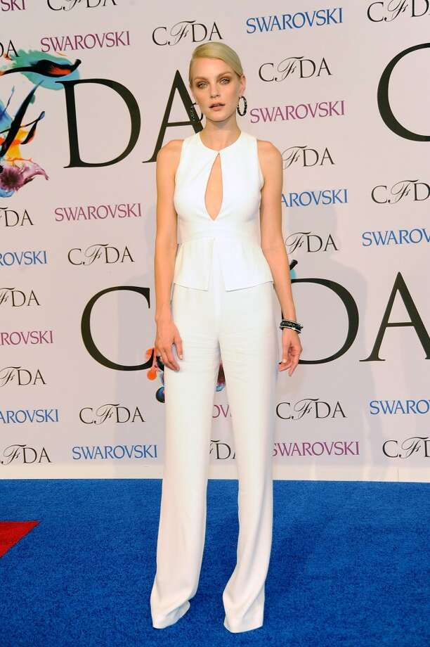 Jessica Stam attends the 2014 CFDA fashion awards at Alice Tully Hall, Lincoln Center on June 2, 2014 in New York City. Photo: Rabbani And Solimene Photography, WireImage