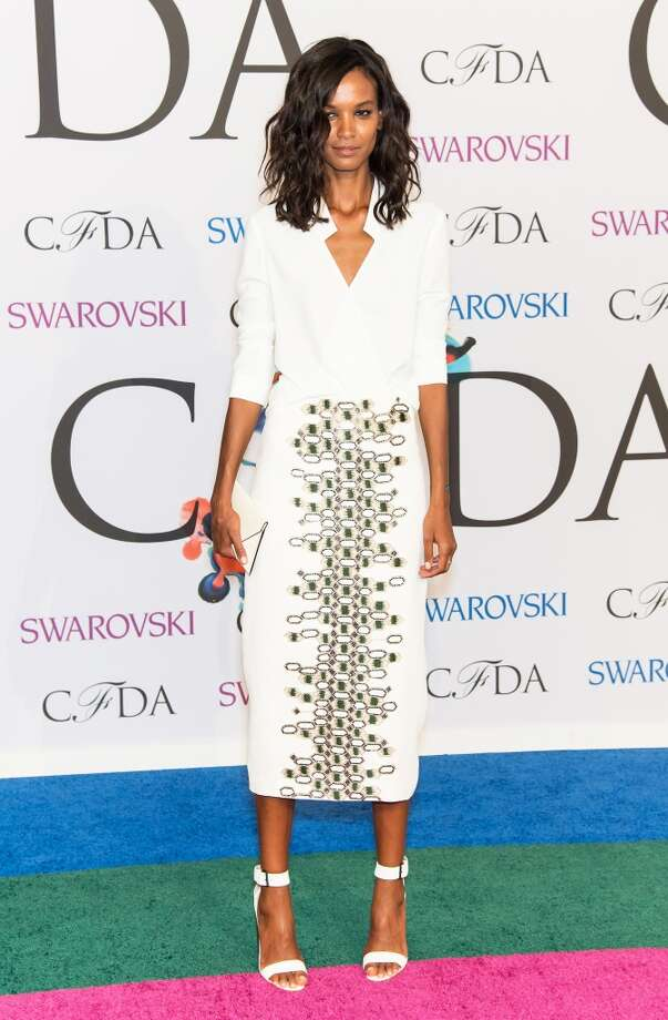 Model Liya Kebede attends the 2014 CFDA fashion awards at Alice Tully Hall, Lincoln Center on June 2, 2014 in New York City. Photo: Gilbert Carrasquillo, FilmMagic