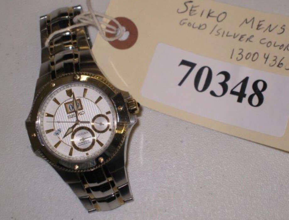 SEIKO, 2-TONE GOLD & SILVER COLOR, MEN'S WATCH, item # 70348, S#502328, CS#13004365 Photo: San Antonio Police Department
