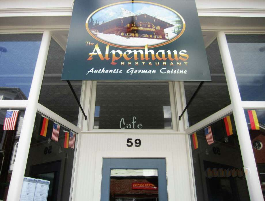 The Alpenhaus restaurant along Bank Street in New Milford features authentic German cuisine. May 2014 Photo: Norm Cummings / The News-Times