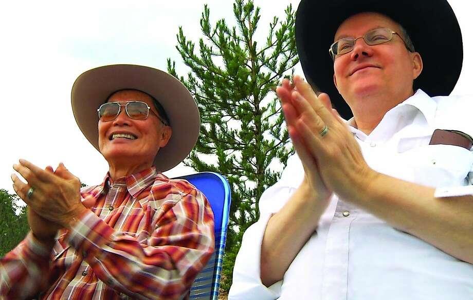 George Takei (left) says he and his husband, Brad Takei, are polar opposites. Photo: Frameline