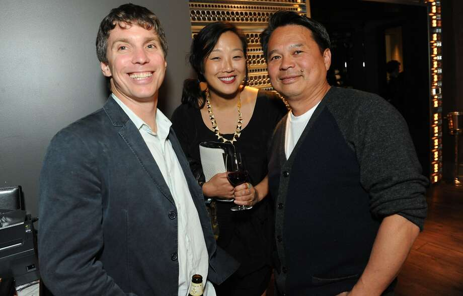 The San Francisco Chronicle celebrated their choice of the top 100 Bay Area restaurants at the Dirty Habit in San Francisco on June 2, 2014. Chef/Owner of Nojo Greg Dunmore and Chef/Owner of Slanted Door Charles Phan pose for a photo. Photo: Susana Bates, Special To The Chronicle