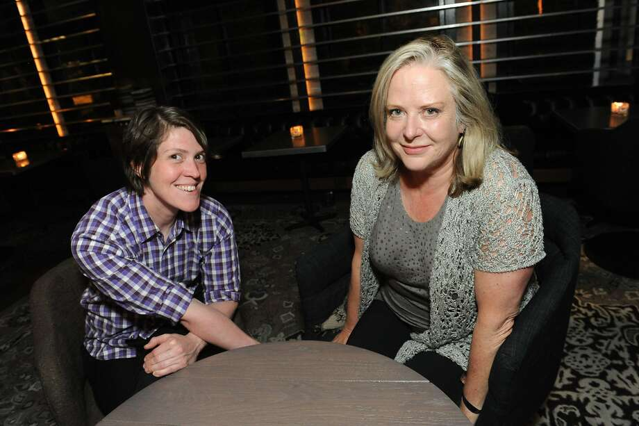 The San Francisco Chronicle celebrated their choice of the top 100 Bay Area restaurants at the Dirty Habit in San Francisco on June 2, 2014. From left are: Dana Younkin and Nancy Oakes of Boulevard. Photo: Susana Bates, Special To The Chronicle