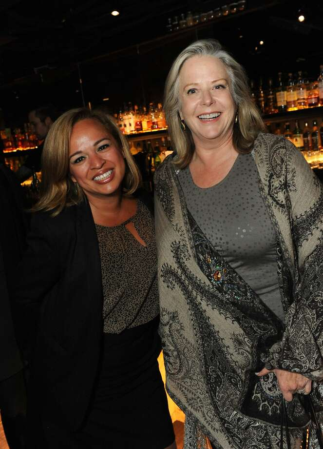 The San Francisco Chronicle celebrated their choice of the top 100 Bay Area restaurants at the Dirty Habit in San Francisco on June 2, 2014. From left are: Cathy Mora and Nancy Oakes of Boulevard Photo: Susana Bates, Special To The Chronicle