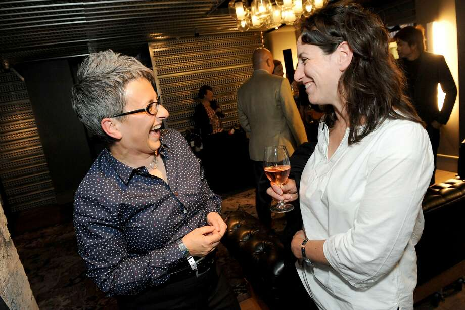 The San Francisco Chronicle celebrated their choice of the top 100 Bay Area restaurants at the Dirty Habit in San Francisco on June 2, 2014. Sharon Ardiana of Gialina and Ragazza chats with Erica Holland- Toll. Photo: Susana Bates, Special To The Chronicle