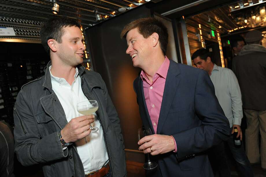 The San Francisco Chronicle celebrated their choice of the top 100 Bay Area restaurants at the Dirty Habit in San Francisco on June 2, 2014. From left are: Jared Rogers of Picco and Jeff Bergin from SFChronicle. Photo: Susana Bates, Special To The Chronicle