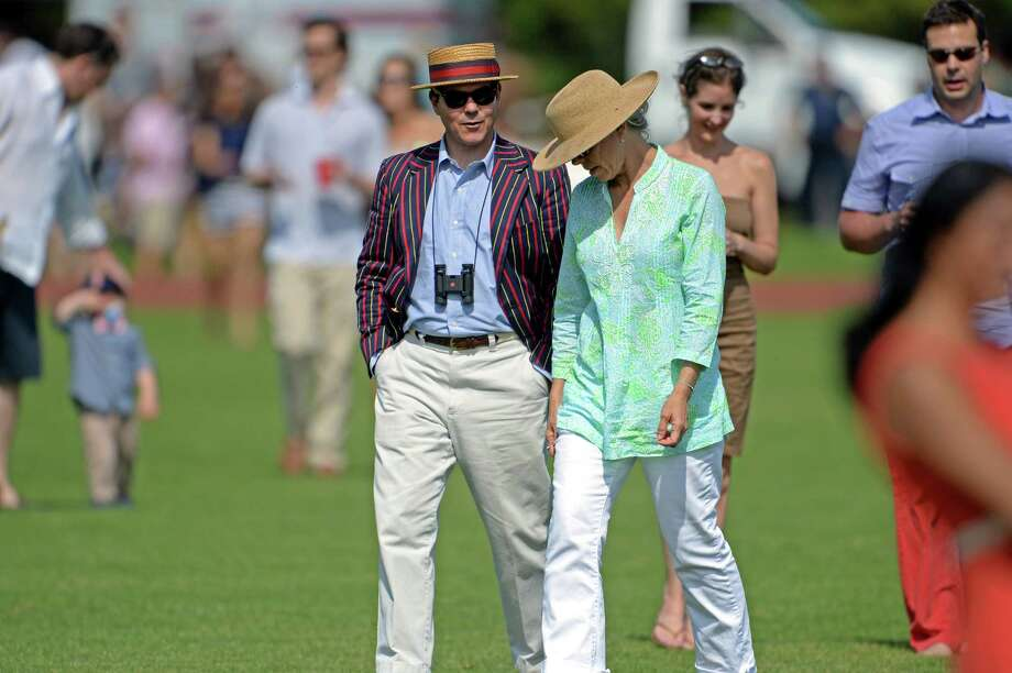"Dress code for the polo matches is ""garden chic,"" perfect for divot stomping at halftime of opening day on Sunday, June 1, 2014. Photo: Contributed Photo, John Ferris Robben/Contributed P / Greenwich Time Freelance  John Ferris Robben"
