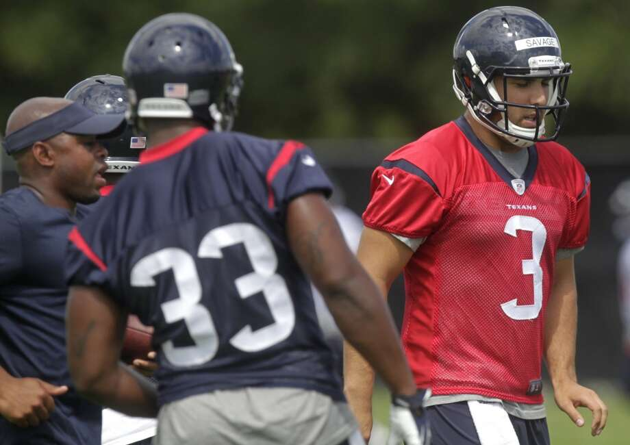 Quarterback Tom Savage participates in OTA practice. Photo: J. Patric Schneider, For The Chronicle