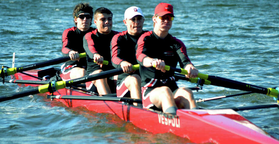 The Gunnery boys' first boat is headed soon to compete in the national championships. June 2014  Courtesy of Kaitlyn McNamara Photo: Contributed Photo / The News-Times Contributed