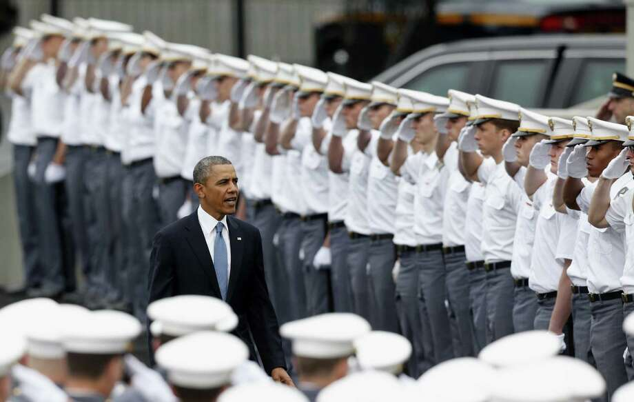 President Barack Obama's speech on foreign policy at West Point recently is being severely criticized. Here, he arrives to a graduation and commissioning ceremony at the U.S. Military Academy on May 28, in West Point, New York. Photo: Mike Groll / Associated Press / AP