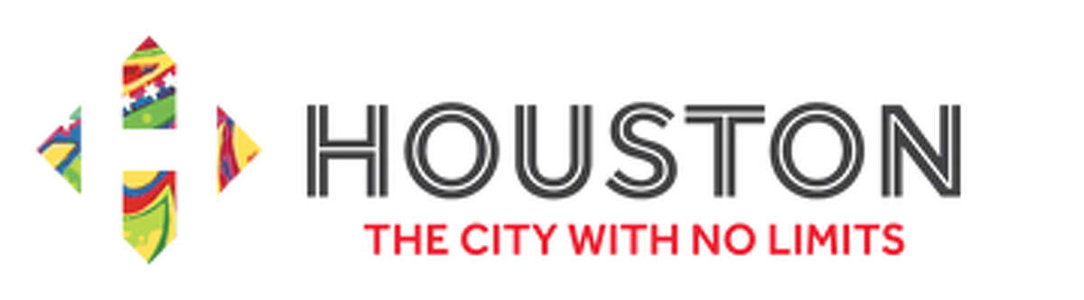 """Logo for new city image campaign sponsored by the Greater Houston Partnership. The slogan is """"Houston: The City With No Limits."""""""