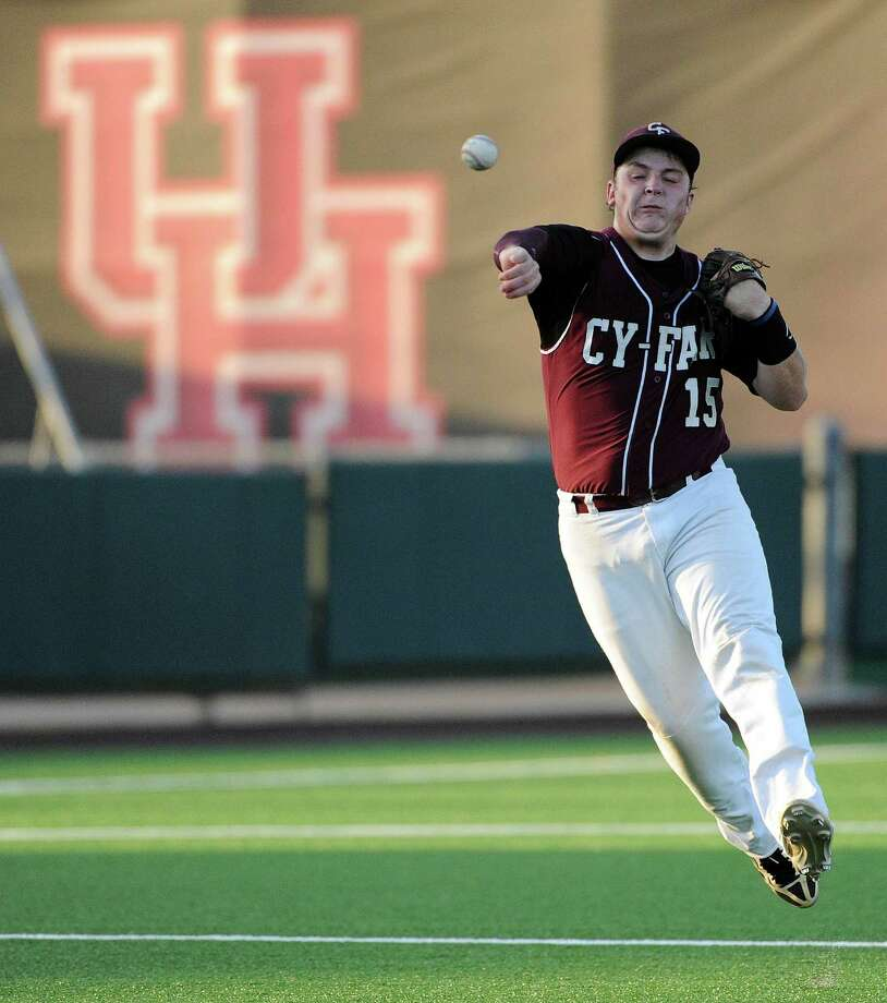 Cy-Fair shortstop Beau Orlando figures prominently in new coach Paul Orlando's plans as the Bobcats hope to go even further in 2015. Photo: Eric Christian Smith, Freelance