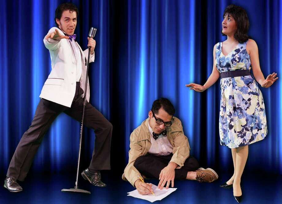 "Sean Salazar (from left), Austin Allie and Jovi Gonzales star in ""Breaking Up Is Hard to Do"" at the Cameo Theatre. Photo: Courtesy Cameo Theatre"