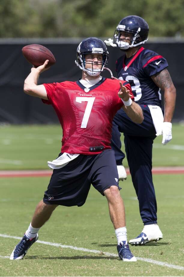 Texans quarterback Case Keenum throws a pass. Photo: Brett Coomer, Houston Chronicle