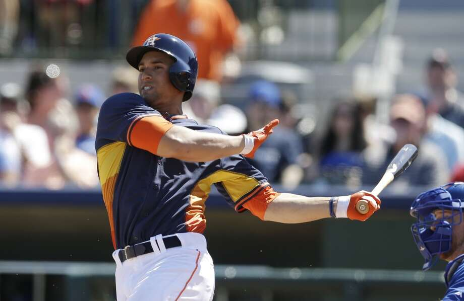George Springer had a .161 batting average this spring. Photo: Carlos Osorio, Associated Press