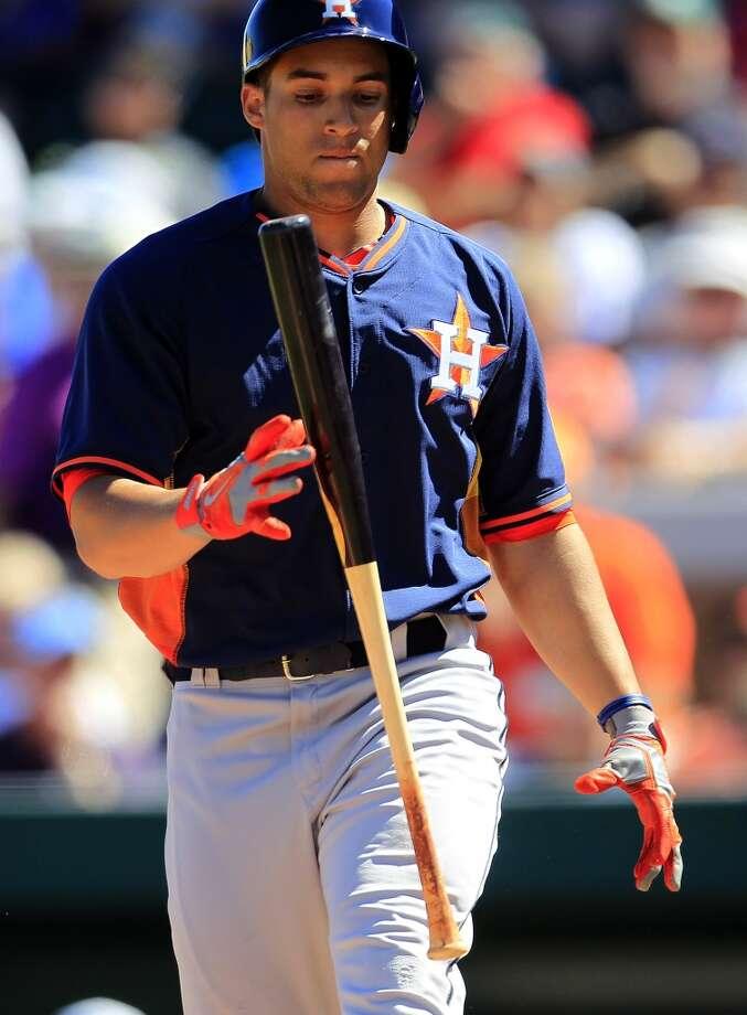 Springer struck out 11 times in 31 spring at-bats. Photo: Karen Warren, Houston Chronicle