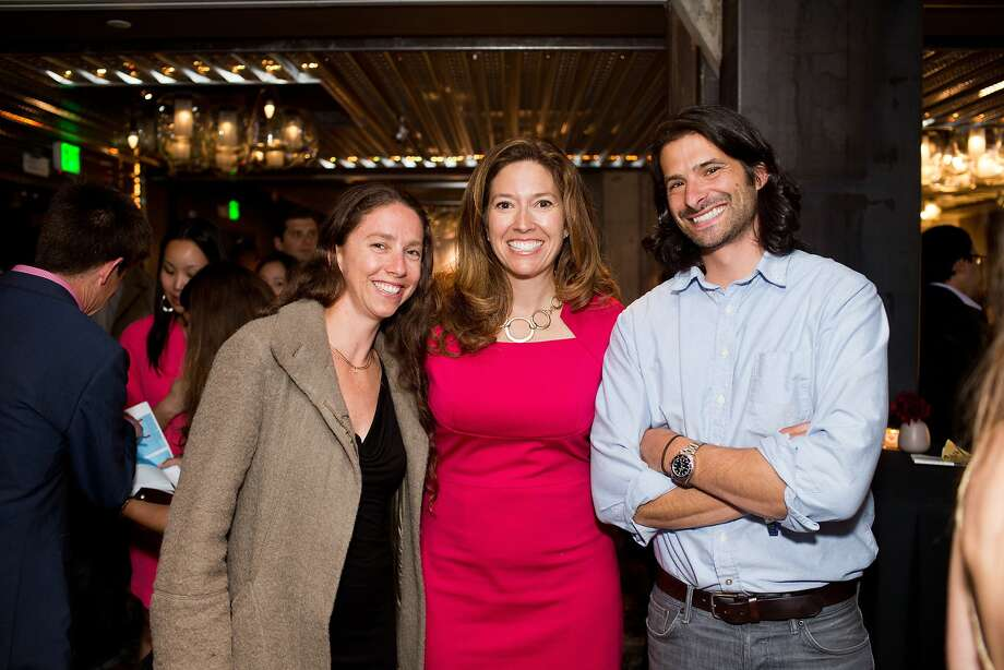 Allison Jossel, of NoPa, Chronicle president Kristine Shine and Chronicle food writer Paolo Lucchesi during the San Francisco Chronicle's Top 100 party at Dirty Habit in San Francisco, Calif., Monday, June 2, 2014. Photo: Jason Henry, Special To The Chronicle