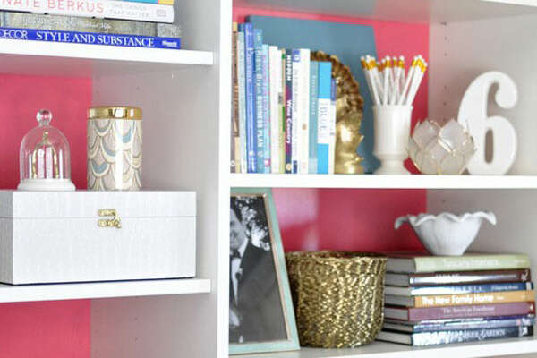 Re-merch your shelves  Your shelves should be practical, but why not make them beautiful, too? Take inspiration from blogger  Centsational Girl  and consider arranging books by color, stacking them both vertically and laying them horizontally, and unless you adhere to the books-only-on-the-bookshelf rule, nestle in some trinkets. Add a small, framed picture in front of a few volumes, a favorite memento on top of one of the piles, or a box for hiding unsightly odds and ends. Use the moment to weed out old stuff-nothing feels better than donating those old travel books you've had hanging around for way too long.      Top Places To Score Decor Deals   Paint Colors To Transform Every Room   Jazz Up Your Home Office   9 Cheap And Cheerful Home Ideas   Picture Yourself In These Living Rooms   Time To Upgrade Your Home Bar
