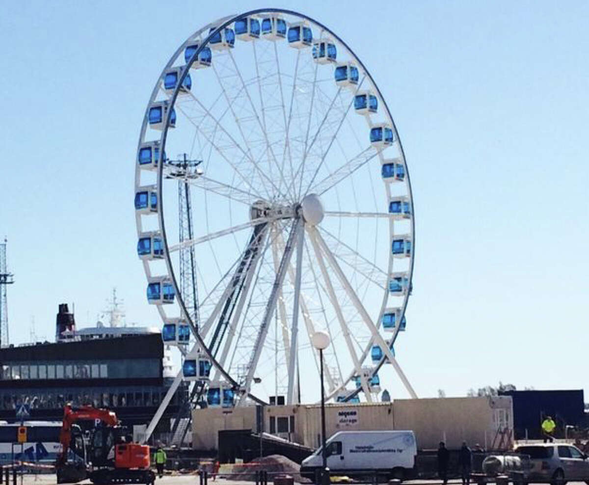 The Finnair SkyWheel is is 460 feet high, with 30 climate-controlled gondolas. One trip lasts 15 minutes and costs 12 euros ($16).