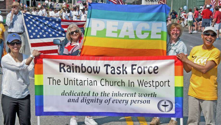 'Welcome,' the story of how the Unitarian Church in Westport became a welcoming congregation to gay, lesbian, bi-sexual, and transgender people, will be shown in the Reel Justice film series at the church on June 7. Photo: Contributed Photo / Westport News
