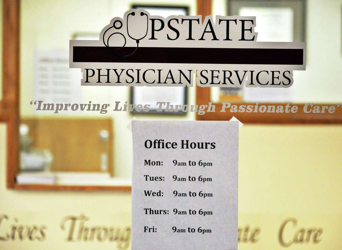 Entrance to the Upstate Physician Services at 2001 Fifth Ave., Troy, in June 2014. (John Carl D'Annibale / Times Union)