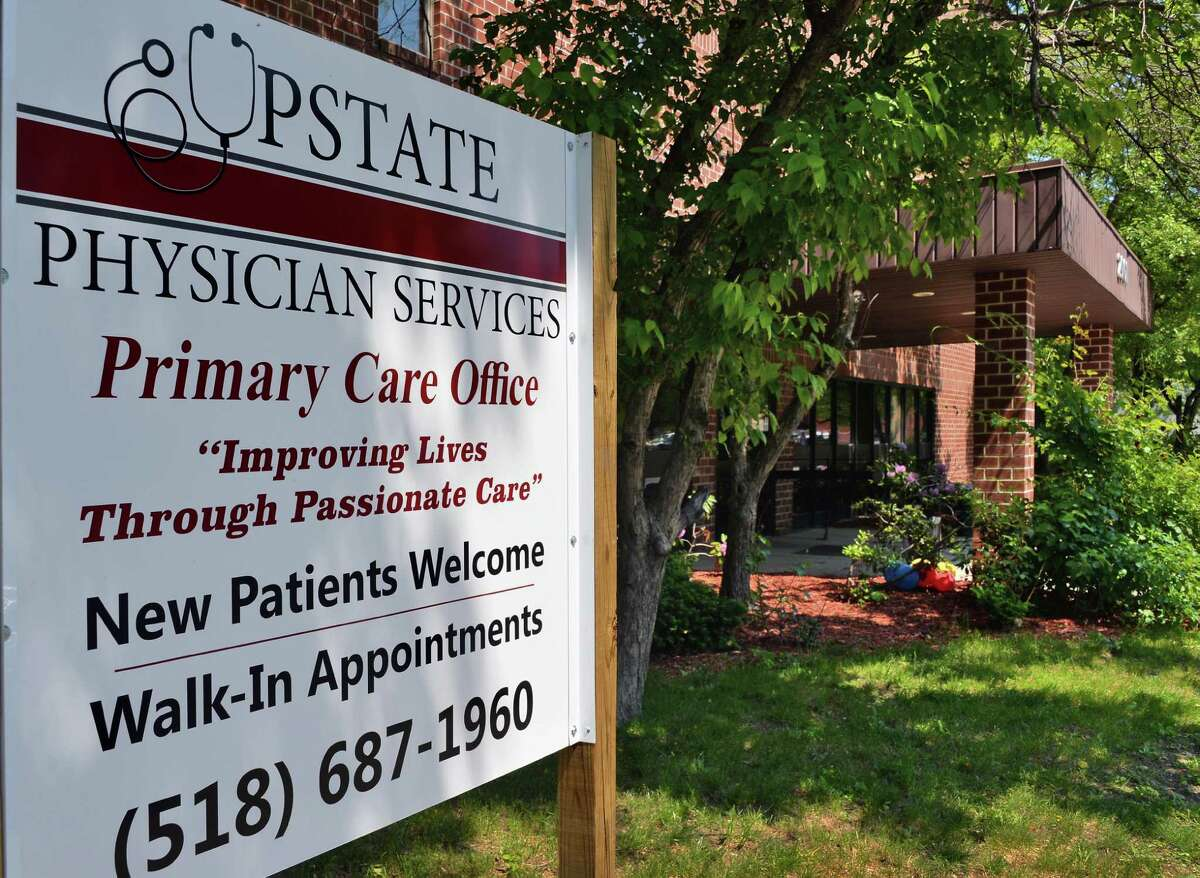 Upstate Physician Services at 2001 Fifth Ave., Troy, in June 2014. (John Carl D'Annibale / Times Union)