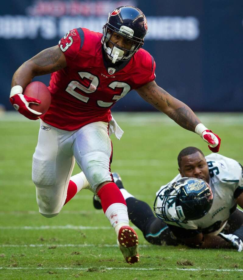 Foster rushed for 1,224 yards during the 2011 season. Photo: Smiley N. Pool, Houston Chronicle