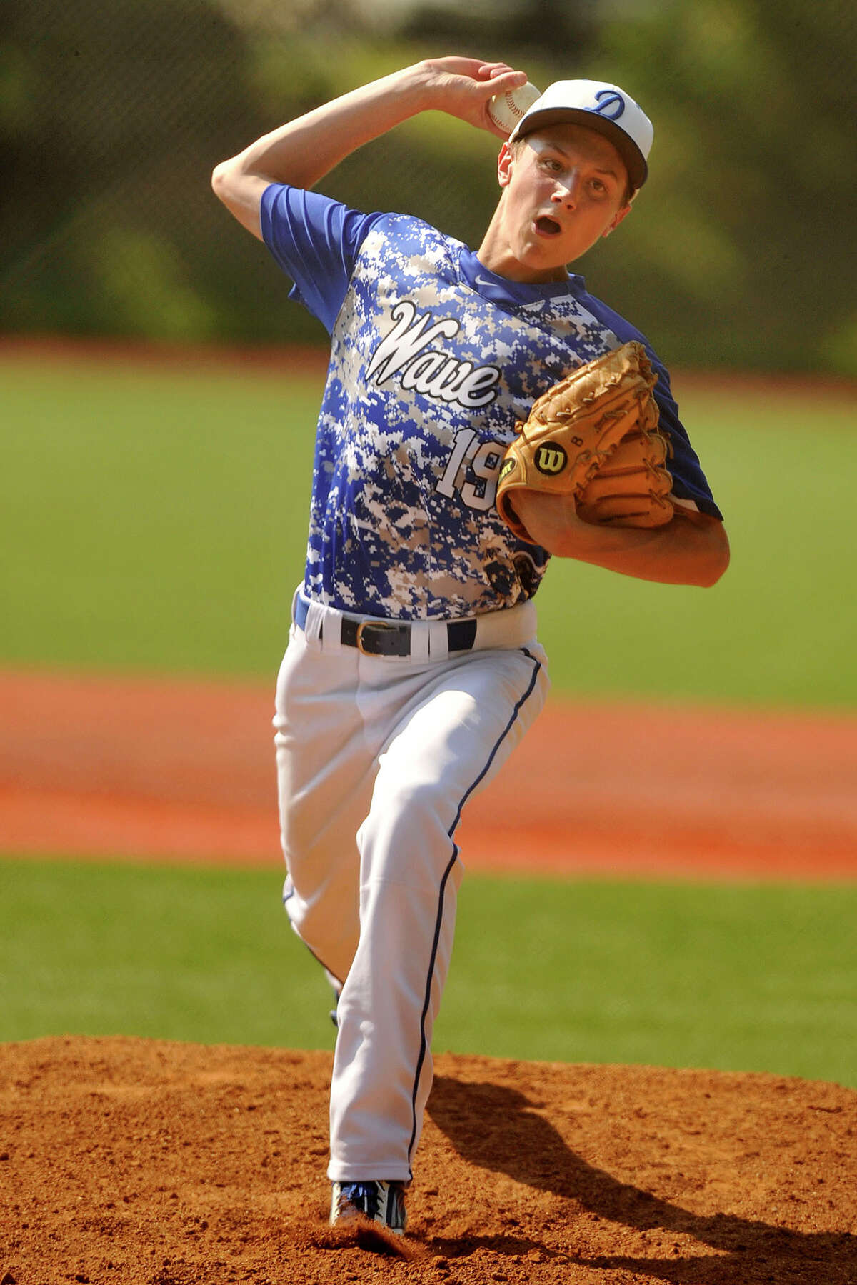Stephen Barston, Darien Barston pitched to contact, trusting his defense but he did not walk many and he led the Blue Wave to the No. 1 seed in the FCIAC playoffs.