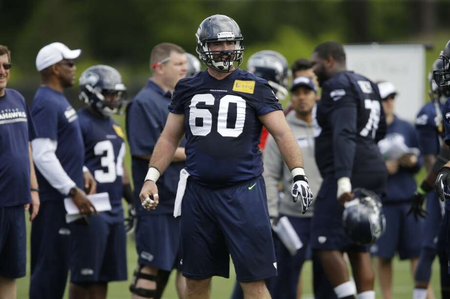 Seattle Seahawks center Max Unger stands on the field during Seahawks OTAs. Photo: Ted S. Warren, Associated Press