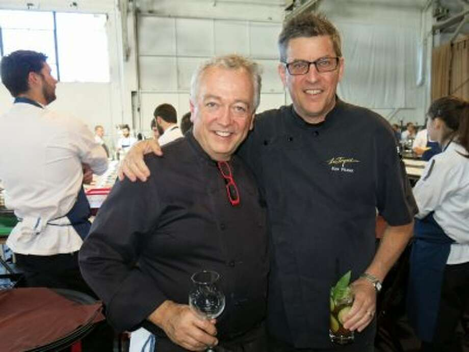 La Folie chef Roland Passot (left) with La Toque chef Ken Frank Photo: Catherine Bigelow