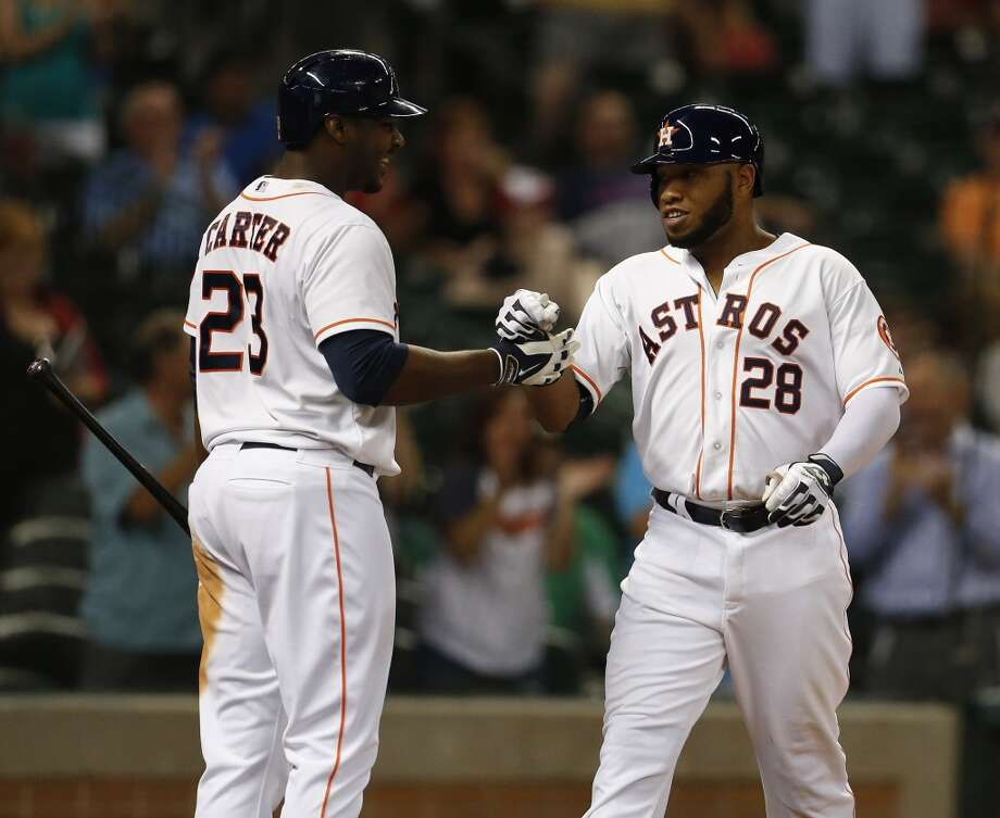 June 3: Astros 7, Angels 2  Jon Singleton's first career hit was a homer and the Astros took care of business in the opener of a three-game series against the Angels.  Record: 25-34. Photo: Karen Warren, Houston Chronicle