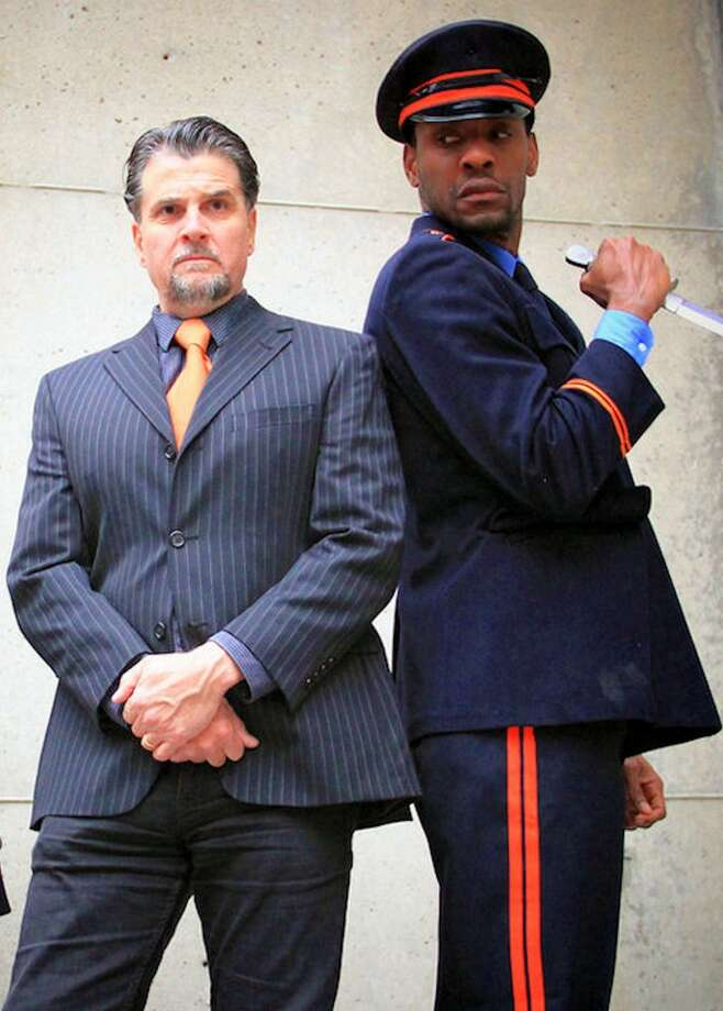 """Pictured, actors James Andreassi and Paul Pryce in a scene from 2013′s Elm Shakespeare Company's """"Julius Caesar."""" The company is calling on all aspiring actors to participate in a dramatic event on Friday. Find out more."""