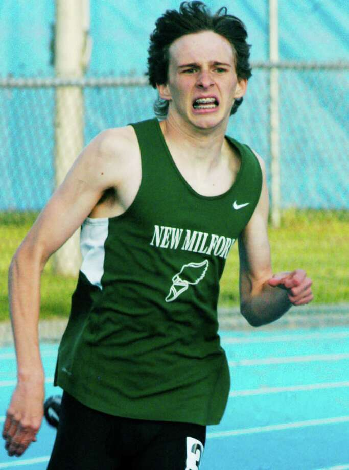 State class  New Milford High School's top boys' and girls' track and field athletes competed this week in respective state class meets. Among the contenders was expected to be Green Wave junior Richard Grudzwick, shown here competing May 29 in the South-West Conference championship meet at Bunnell High School in Stratford. Grudzwick earned third place in the SWC boys' 400-meter run. For photos and results of the SWC meet, see Page S19 and visit www.newmilfordspectrum.com. For more coverage of Green Wave sports, see the June 13 and 20 editions of the Spectrum. Photo: Norm Cummings / The News-Times