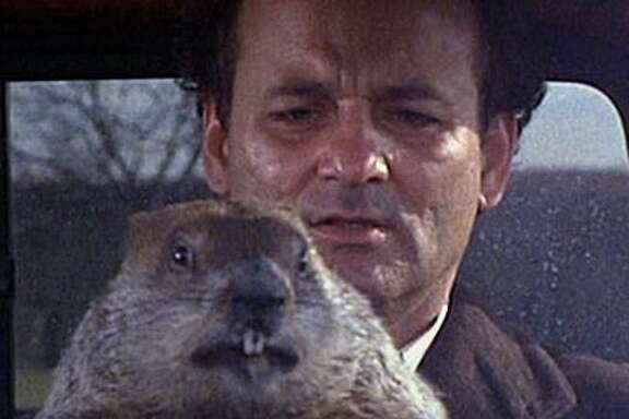 "Bill Murray gave one of his best performances as a weatherman caught in a time loop in ""Groundhog Day."""