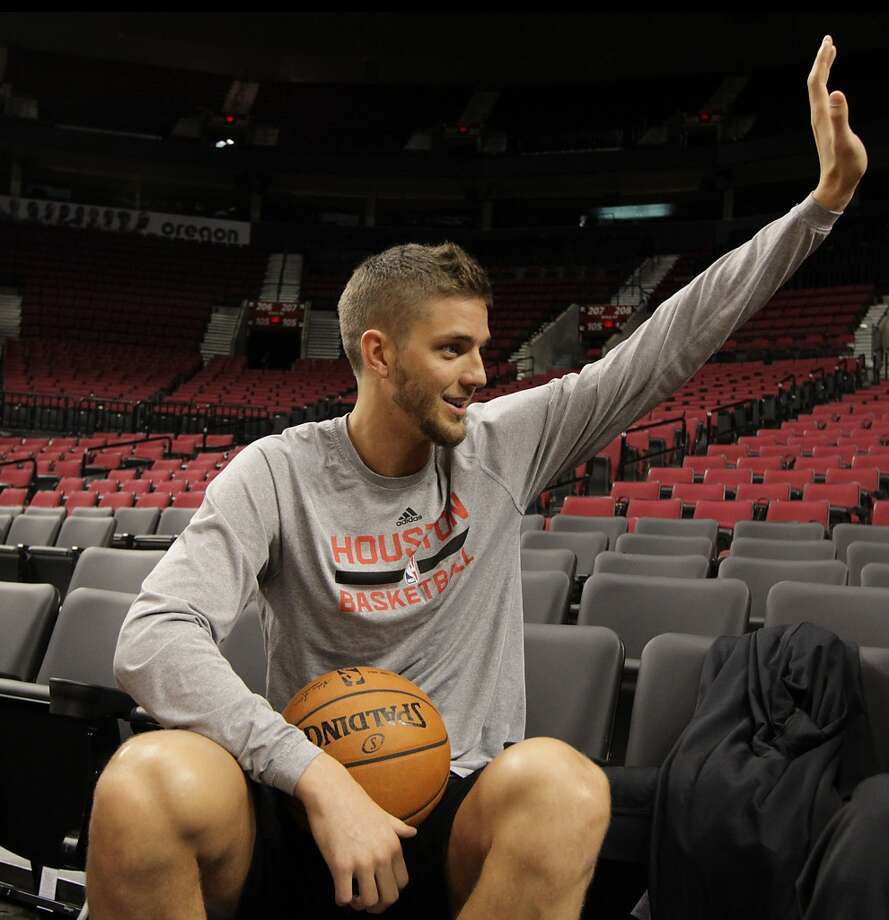 Houston Rockets forward Chandler Parsons during the Rockets practice session at the Moda Center Saturday, April 26, 2014, in Portland. ( James Nielsen / Houston Chronicle ) Photo: James Nielsen, Houston Chronicle