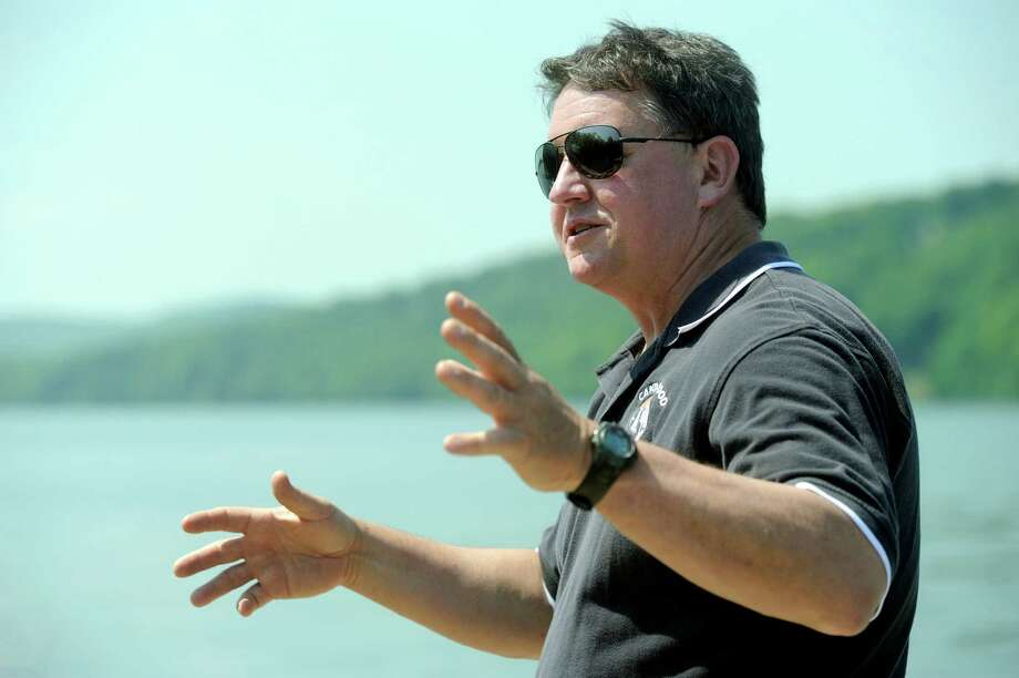 Larry Marsicano, executive director of the Candlewood Lake Authority, talks about Lake issues Tuesday, June 3, 2014. Photo: Carol Kaliff / The News-Times