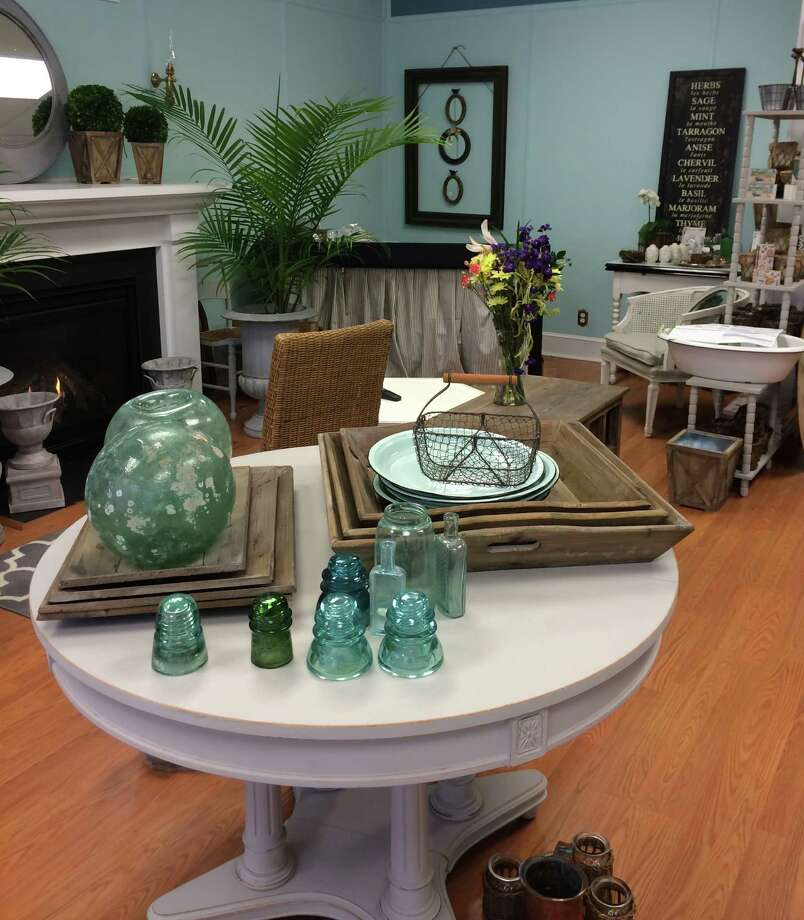Painted furniture, vintage home decor and interior design services are offered at No. 299 Design Center, which opened last month on Villa Avenue. Photo: Fairfield Citizen/Contributed / Fairfield Citizen