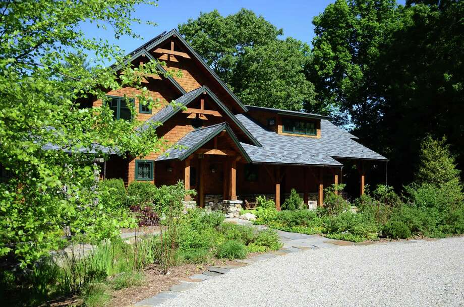 "New Canaan's ""greenest"" house has hit the market for $4.5 million. This sustainable property, located at 482 Trinity Pass Road, New Canaan, Conn., has been awarded LEED Platinum Certification, the highest honor in green building. Photo: Nelson Oliveira / New Canaan News"