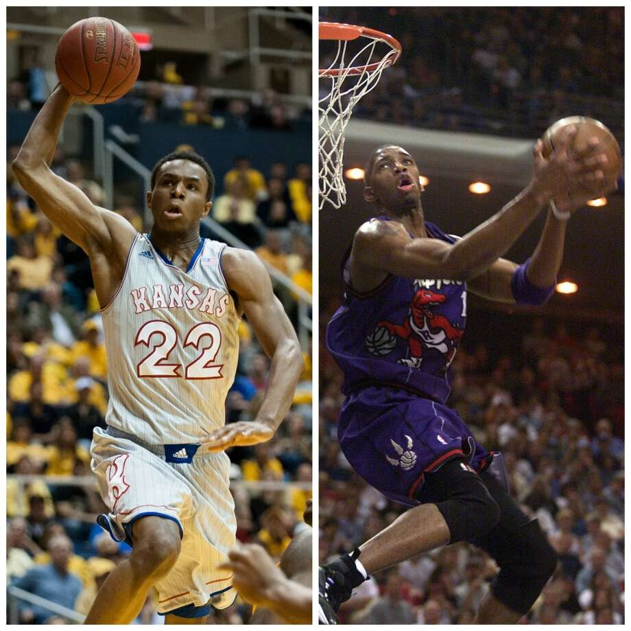 Andrew Wiggins 6-8, 200, Kansas guard/forward NBA comparison: Tracy McGrady  Many forget that when McGrady made the jump from high school, he tested off the charts physically – in some cases, literally off scouts' predraft test charts – but was not the assertive scorer he would become. That developed later. Wiggins has similar athleticism and potential to grow, though probably not as a playmaker. Photo: Getty Images
